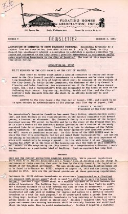 October 1964 Newsletter