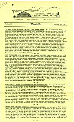 October 1965 Newsletter