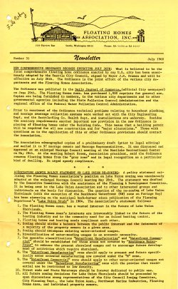 July 1968 Newsletter