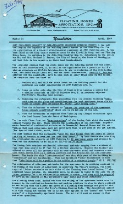 April 1969 Newsletter