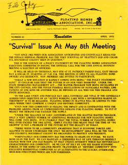 April 1975 Newsletter