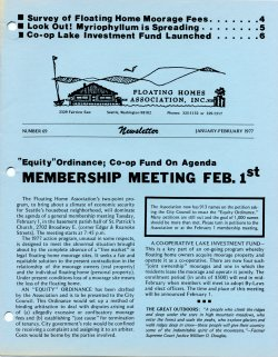January 1977 Newsletter