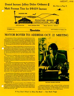 September 1979 Newsletter