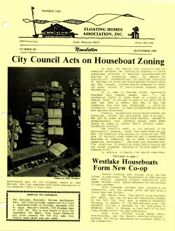 September 1985 Newsletter