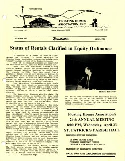 April 1986 Newsletter