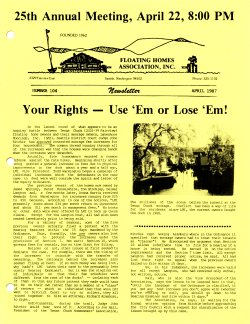 April 1987 Newsletter