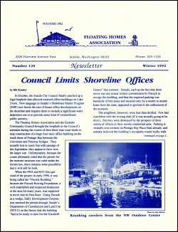 Winter 1992 Newsletter
