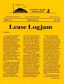 Fall 1994 Newsletter