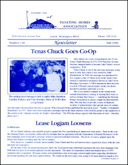 Fall 1996 Newsletter