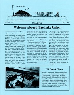 Fall 1999 Newsletter